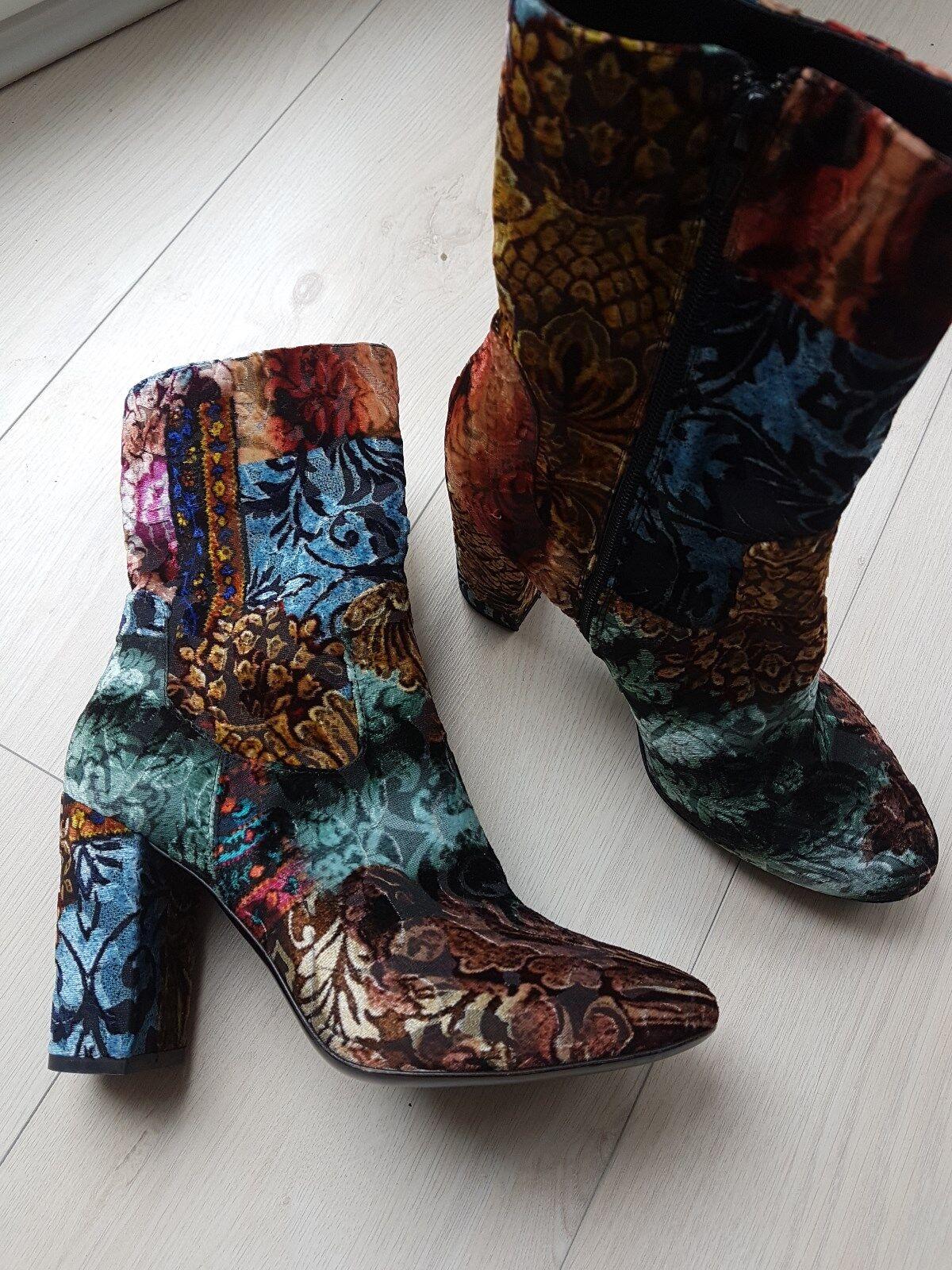 STRATEGIA Damen Schuhe Stiefeletten Gr. Hohe Knöchelstiefel aus Samt Gr. Stiefeletten 40,5 DE d78aa8