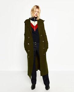 Jacket Hood Long Størrelse M Nwt Zara With qIFwxWEf8