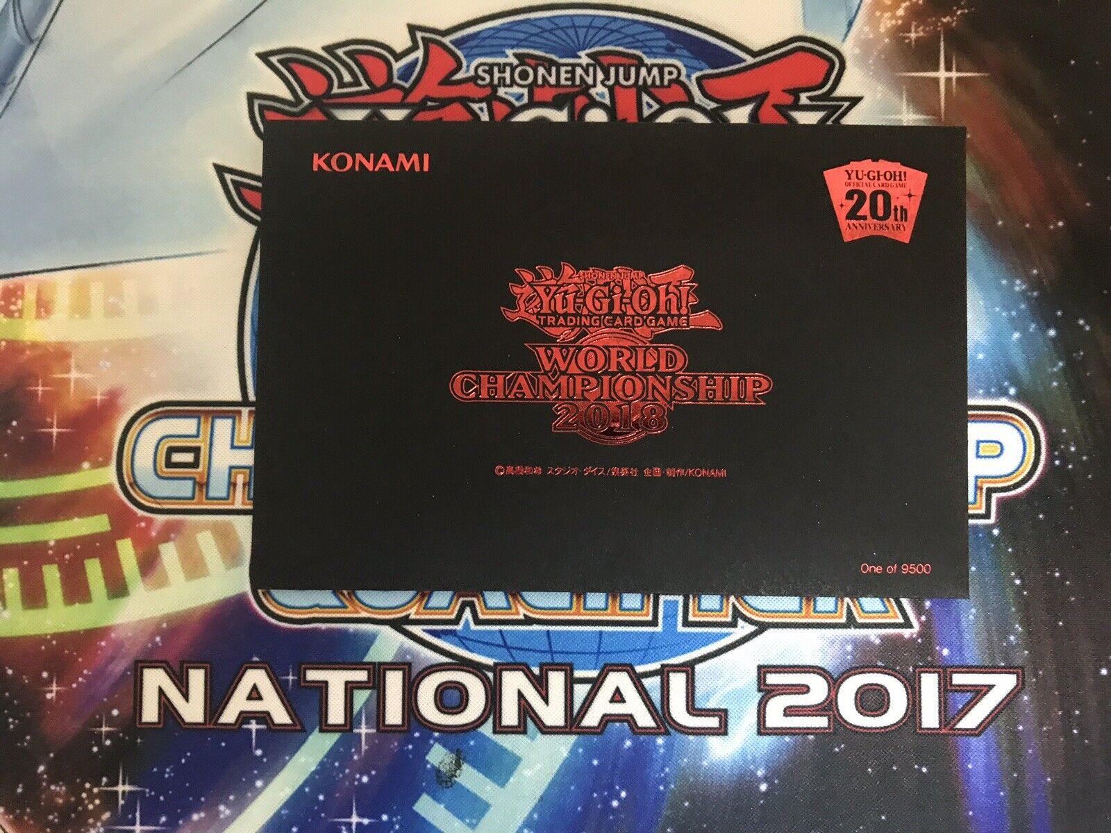 YUGIOH RARE WORLD CHAMPIONSHIP 2018 PRIZE PROMO PROMO PROMO CARDS blueE EYES DARK MAGICIAN 3f7517