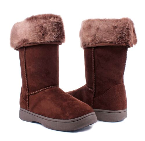 Bamboo 3 Color Fashion Faux Fur Top Slip On Womens Mid-calf Boots Casual Shoes