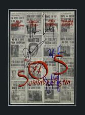 **SUMMER OF SAM CAST SIGNED PHOTO AUTHENTIC AUTOGRAPH SOS SERIAL KILLER MOVIE**