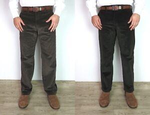 Men-039-s-Ex-M-amp-S-Corduroy-Trousers-Ex-Branded-Regular-Fit-Thick-Cords-Super-Soft