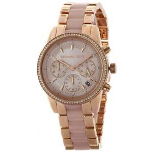 Details zu Michael Kors MK 6307 Women's Ritz Rose Gold Tone Watch