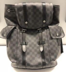5179cec8804a Image is loading Louis-Vuitton-Christopher-PM-Damier-Graphite-Canvas-N41379