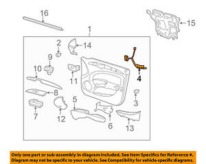 Buick Gm Oem 08 11 Lucerne Front Door Wire Harness Right 15932321 Ebay