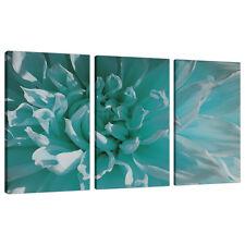 Gruppo di tre Blu Alzavola STAMPE SU TELA IMMAGINI FIORI Wall Art XXL 3103