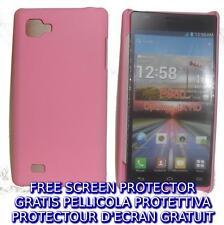 Pellicola+custodia BACK COVER ROSA rigida per LG Optimus 4X HD P880