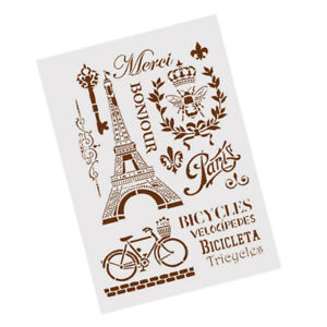 tower-bicycle-layering-stencils-for-wall-painting-scrapbooking-stamp-album-Hw