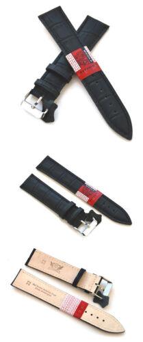 20 mm extra long bleu brun-noir Haute Qualité CUIR VERITABLE montres bracelet Cavadini