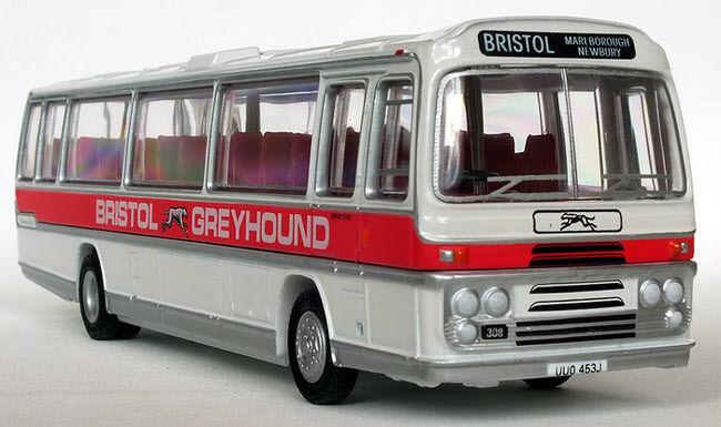 29508 Efe Bristol RELH6G Plaxton Panorama Elite Mk II buss gråhound 1 76