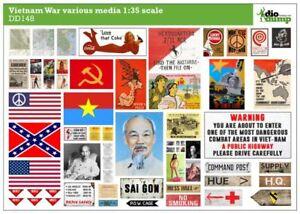 DioDump-DD148-Vietnam-War-various-media-posters-magazines-signs-1-35-diorama
