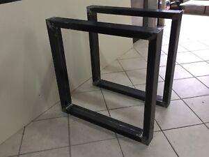 Tavolo Industriale Quadrato : Steel table base per tavolo forma quadrata design industriale