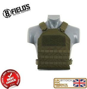 MILITARY-ARMY-TACTICAL-VEST-MOLLE-PLATE-CARRIER-OLIVE-AIRSOFT-M51611030-OD