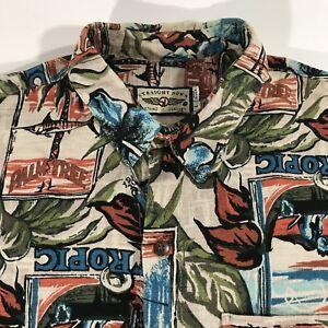 e2c22f32 Straight Down Hawaiian Shirt Men's L Short Sleeve Tropical Print ...