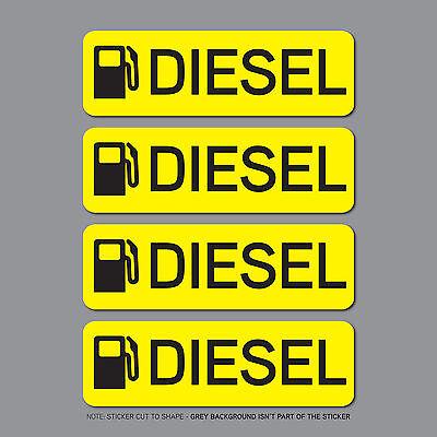 Truck Van Bus SKU2535-4 x Diesel Fuel Reminder Stickers Car Fleet