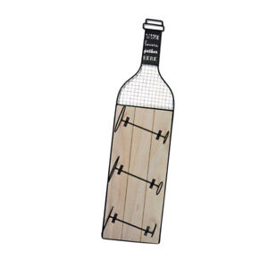 Details About 3 Bottle Metal Wine Rack Large Wall Mounted Kitchen Holder Wood Drinks Storage