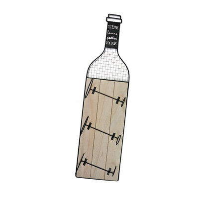 3 Bottiglia Vino Rack In Metallo Grande Parete Cucina Titolare Legno Bevande Storage- Calcolo Attento E Bilancio Rigoroso