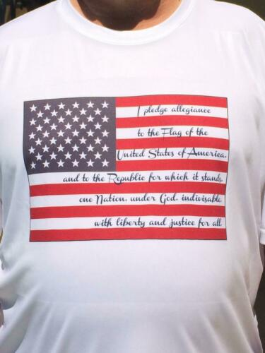 shirt Shirts Heren de large pledge 12 T VS X Vlag Allegiance Of polyester van 100 AaPqY