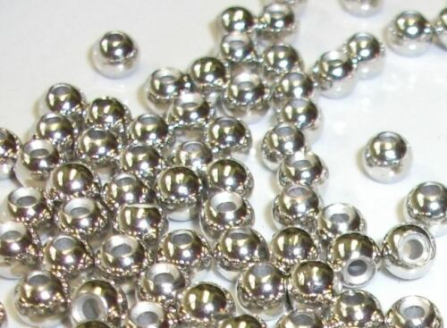 20 Argent Tungstène Perles Rondes Pour Fly Tying Vous Choisissez parmi 5 Tailles