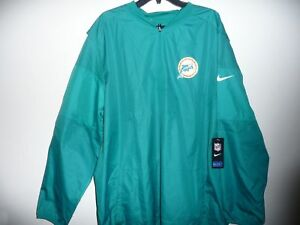 2dcfca89 Details about NWT NIKE OFFICIAL ONFIELD MIAMI DOLPHINS RETRO LOGO 1/2 ZIP  JACKET SIZE XXL