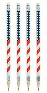 Pack-of-12-Patriotic-Wooden-USA-Flag-Pencils-July-4th-Party-Bag-Fillers