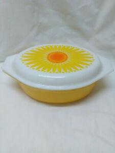 Vintage Pyrex Sunflower Casserole #045 2.5 QT.