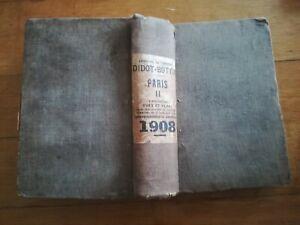 ANNUAIRE-du-commerce-Paris-1908-Didot-Bottin-tome-II-regionalisme