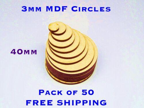 BUMPER 50 PACK Great Deal 40mm plain wooden Circles Warhammer Base Embelishments