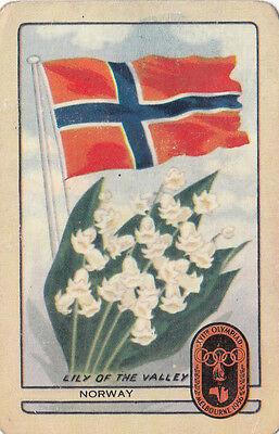 not Coles Olympic Games 1956 Melbourne swap card Austrian flag plain back