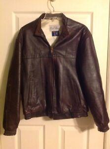 b4ef58733 Vintage Count Sini Dark Brown Lambskin Leather Bomber Jacket Mens ...