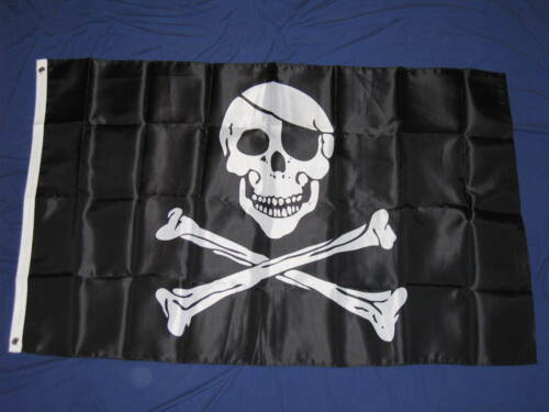 3X5 NYLON PIRATE FLAG JOLLY ROGER SKULL CROSSBONES F733