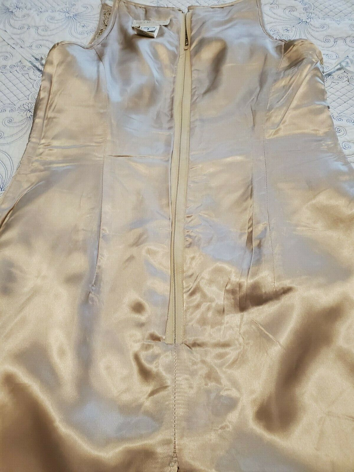 jessica mcclintock Dress Womens Size 8 Gold with … - image 9