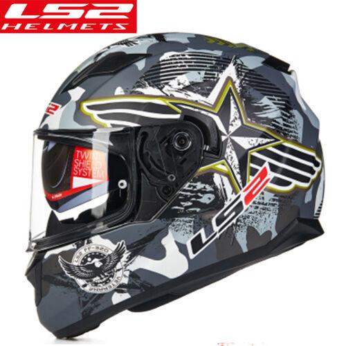 LS2 New Motorcycle Full Helmet Motocross Anti fog Visor ECE Brand Racing Helmets