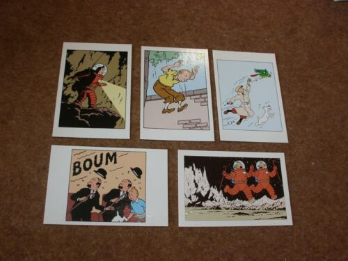 Selection of Tintin Postcards rf006 5 Different Tintin Images