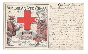 American Red Cross Christmas 1909 Santa Claus New Year Vintage Postcard NP1
