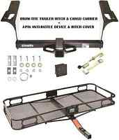 Trailer Hitch + Cargo Carrier + Silent Pin Fits 2010-17 Subaru Legacy & Outback