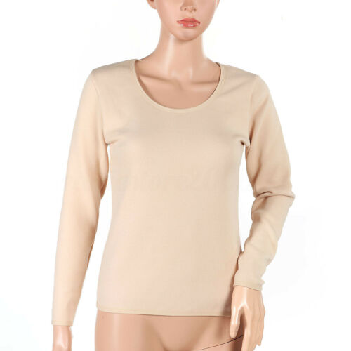 Women/'s  Pullovers Long Sleeve Thermal Underwear Tops Plus Cashmere