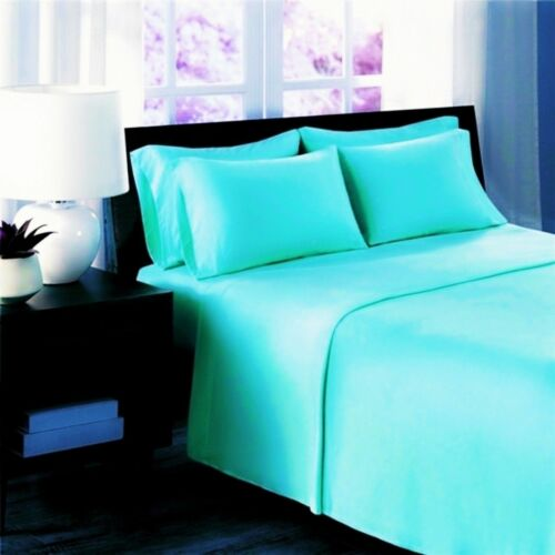 Brighten Plain Dyed 100/% Egyptian Cotton 200TC Fitted//Flat Sheets /& Pillow Cases