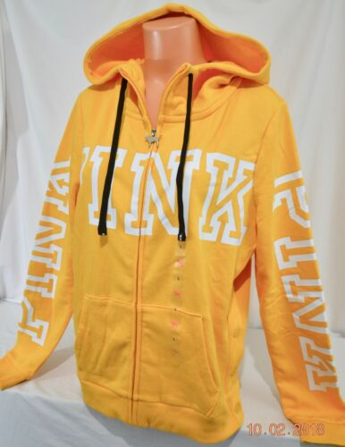 Details about  /Victorias Secret Pink Graphic SIDE SNAP PERFECT FULL ZIP Hoodie NWT L