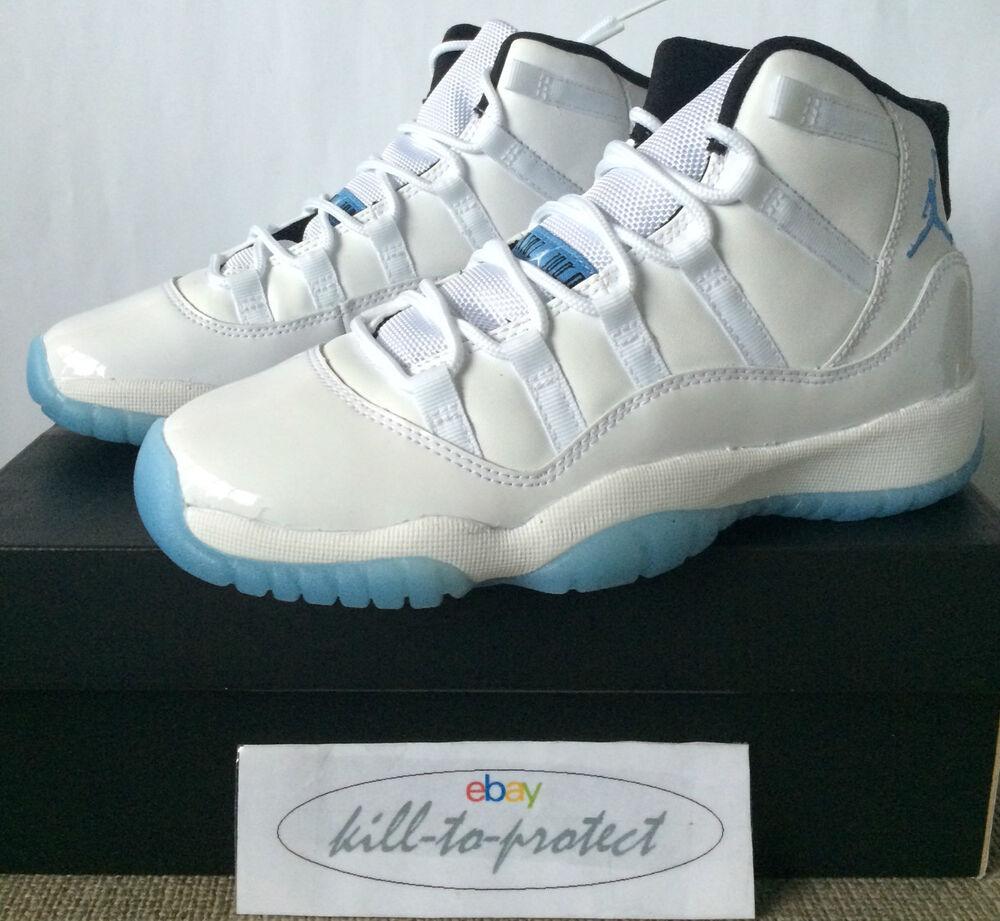 Nike air jordan 11 Legend Bleu GS / enfants sz uk US3 4 5 6 7y Columbia 378038-117 BG-