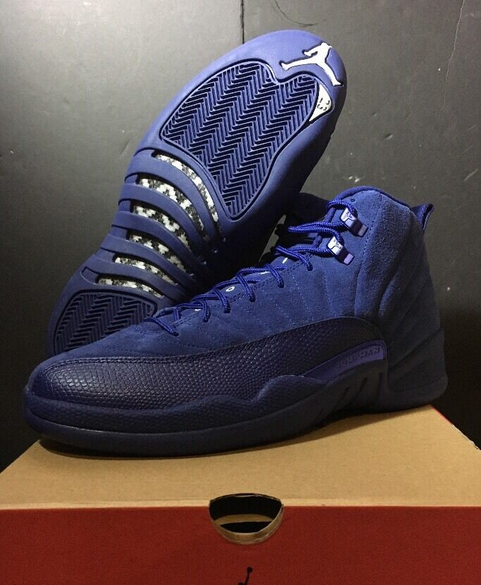 Nike Air OG Jordan Retro Royal Deep bluee Suede Size 10 New In Box In Hand