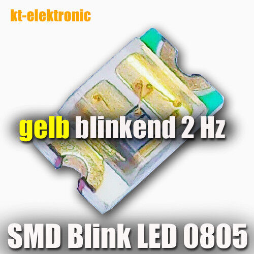 blinkt automatisch ca 10 Stück SMD Blink LED 0805 gelb 2 mal pro Sekunde 2Hz