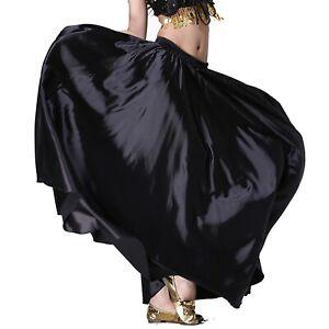 Satin-Skirt-Belly-Dance-Dancing-Costume-Tribal-Dancer-Yoga-Satin-Long-Skirt-Wear