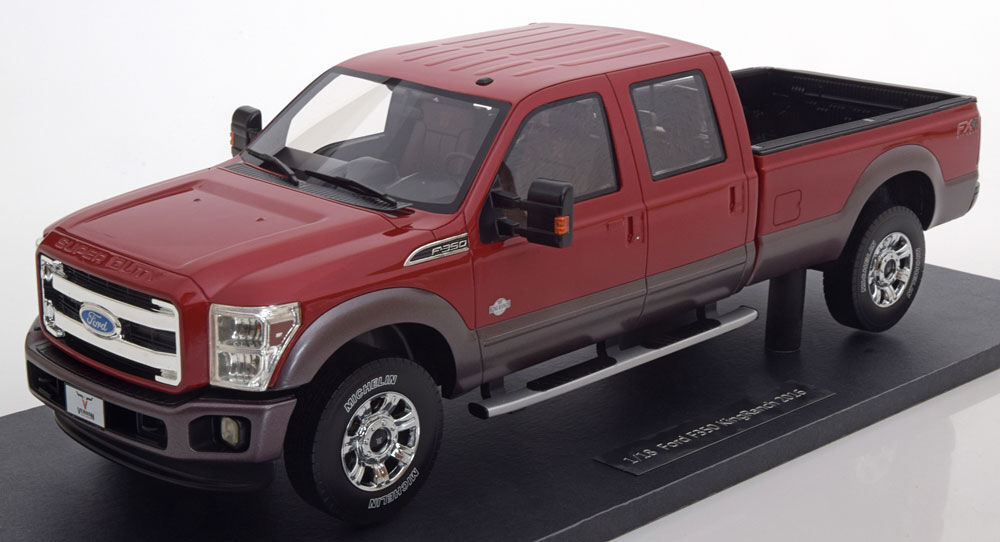 18 Toy Trucks : Ford f king ranch red color in scale by