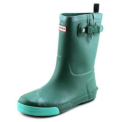 Hunter Original Kids Youth  Round Toe Synthetic Green Rain Boot