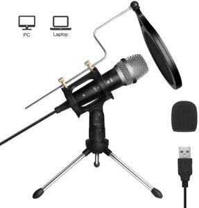 USB PC Mikrofon Kondensator Mikrofon Podcast Microfon Computer Standmikrofon