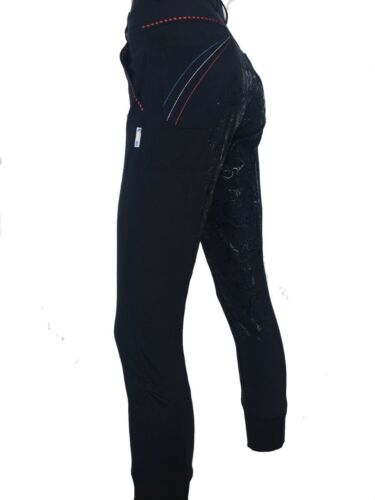 Ladies Navy Full Seat Silicone Grip Breeches  Sizes 8-22 small sizing