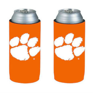 Clemson-Tigers-Orange-2-Pack-Ultra-Slim-Can-Holder-Skinny-Koozie