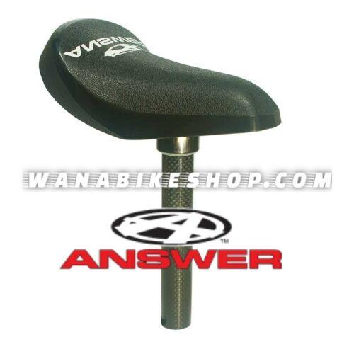 Answer bmx  Carbon Mini Seat//Post Combo 22.2mm Black