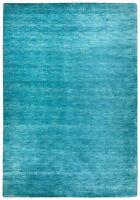 Gabbeh Teppich Einfarbig Türkis Blau Alle Größen Handgearbeitet aus Schurwolle